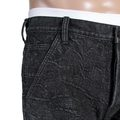 RMC Jeans Black Embroidered Tsunami Wave Cotton Denim Shorts for Men REDM4146