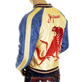 Sugarcane Golden Yellow TT11783 Tiger Themed Fully Reversible Jacket for Men TOYO4233A