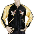Sugarcane Black and Gold TT11781 YOKOTA AB Fully Reversible Suka Jacket for Men TOYO4232