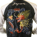 Tailor Toyo Mens TT12420 Souvenier Fully Reversible Jacket in Black with Hand Embroidered Dragon TOYOSC2022A