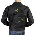 Tailor Toyo Mens T13002 Black Cotton Twill Regular Fit Embroidered Black Tiger Jacket TOYOSC4121