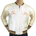 Sugarcane American Eagle Embroidered Regular Fit Acetate TT13001 Fully Reversible Souvenir Jacket for Men TOYO3709