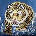 Sugarcane Fully Reversible TT13001 Tiger Embroidered Regular Fit Souvenir Jacket for Men TOYO3709A