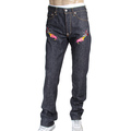 RMC Jeans Red and Silver Embroidered 1001 Model Hungry Dragon Japanese Indigo Selvedge Denim Jeans RMC3743