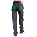 RMC Jeans 1001 Model Indigo Red Line Selvedge Green Lucky Horse Embroidered Japanese Denim Jeans RMC3749