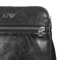 Armani mens black Z6252 X8 small pleather bag AJM4041