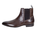 Hugo Boss shoes brown leather chelsea boots Nevall 50271594 BOSS4410
