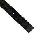 Armani mens black rectangular buckle leather belt AJM4043