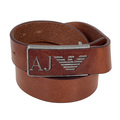 Armani mens brown leather belt AJM4044