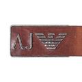 Armani mens brown leather belt AJM4044
