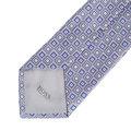 Hugo Boss mens grey patterned 50267532 silk tie BOSS0569