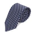 Hugo Boss mens navy spotted 50275519 silk tie BOSS4335
