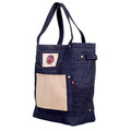 RMC Jeans RQA14028 Custom Made Cotton Denim with Leather Tote Bag REDM4426