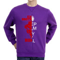 RMC Jeans RQS14094 Custom Made Crewneck Large Purple Sweatshirt with Mixed Printed Logo REDM4424