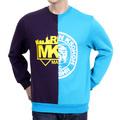 RMC Martin Ksohoh Custom Made Crew Neck Purple and Blue Cotton Sweatshirt REDM4422