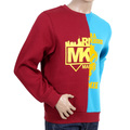 RMC Jeans RQS14094 Custom Made Crew Neck Cotton Sweatshirt in Red and Blue REDM4423
