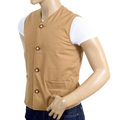 RMC x MKWS Mens Biscuit Vintage Cut Regular Fit Cotton Lightly Padded Waistcoat RMC1950