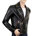 Versace mens leather jacket VERS2581