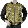 Yoropiko RMC Exclusive Design Tiger Embroidered Black and Gold Fully Reversible Souvenir Japan Jacket YORO5662