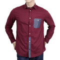 Long Sleeve Bordeaux Shirt by Armani Jeans with logo AJM4005