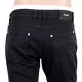 Versus Versace Mens Black Stretch Lower Waist Jeans with Silver Lion Head Rivets VERSn6116