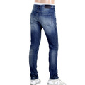 Hugo Boss Black 50308897 Stretch Delaware 3 Stonewashed Faded Indigo Slim Fit Jeans with Creasing BOSS5800