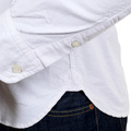 Sugar Cane Long Sleeve Cotton SC25910 Button Down White Oxford Shirt with Single Chest Pocket CANE4446