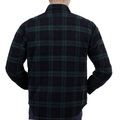 Green Wool Mix SC13178 Long Sleeve Polyester Filled Checked CPO Overshirt with Quilted Inner Lining CANE4464