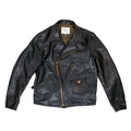 Sugar Cane Aviator Horsehide SC80435 Heavy Weight Black Leather Jacket for Men CANE5802