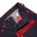 RMC Martin Ksohoh Genuine Red 4A Like Black Embroidered Indigo Vintage Raw Selvedge Denim Jeans REDM2905