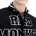 RMC Martin Ksohoh Black and White Regular Fit Vintage Varsity Baseball Jacket REDM3116