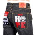 RMC Martin Ksohoh Very Exclusive Obama Yes We Can NEW HOPE Embroidered Black Raw Selvedge Denim Jeans REDM3118