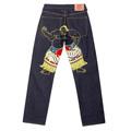RMC Martin Ksohoh Genuine Vintage Cut WALKING SUMO Embroidered Dark Indigo Raw Selvedge Denim Jeans REDM3254