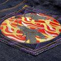 RMC Jeans DUELIST KIMONO Embroidered Dark Indigo Vintage Cut Raw Selvedge Denim Jeans REDM3701