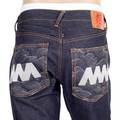 RMC Jeans Like Black Silver Embroidered Super Exclusive Genuine Raw Selvedge Denim Jeans REDM3785