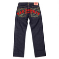 RMC Jeans Genuine Vintage Cut Raw Selvedge Denim Jeans with Side Monkey Embroidery REDM6210