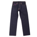 RMC Jeans Genuine Vintage Cut Raw Selvedge Denim Jeans with Rock Tsunami Wave Embroidery REDM6214