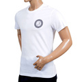 Versace Jeans White Slimmer for Short Sleeve T Shirt with Black Printed Logo on the Chest VERS6159