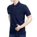 Giorgio Armani Collezioni Navy Blue Three Button Short Sleeve Cotton Polo Shirt GAM5965