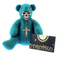 Yoropiko x Unlimitedsifr Toy Collectors Limited Edition RQA11052 Skull Mask Teal Blue Teddy Bear REDM0471a