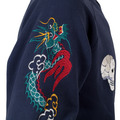 Tailor Toyo TT67433 Blue Regular Fit Suka Sweat Jacket for Men with Skull and Snake Hand Embroidery CANE7467