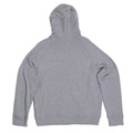 DSquared Zipped Front Grey Hooded Sweatshirt for Men with Logo Applique DSQU6278