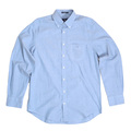 Gant Regular Fit Long Sleeve Washed Pinpoint Oxford Blue Cotton Shirt with Button Down Collar GANT6200