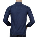 Sugar Cane SC27077 Long Sleeve Soft Collar 4.5-Ounce Navy Work Shirt for Men with Polka Dot Print CANE7472