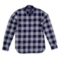 Scotch and Soda Navy Check Soft Cotton Long Sleeve Slim Fit Shirt for Men with Single Chest Pocket SCOT6782