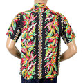 Sun Surf Black Short Sleeve Regular Fit Hawaiian Shirt with Blessing of Nature Print and Cuban Collars SURF7535