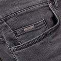 Boss Black Regular Waist Slim Fit Fly Zip Delaware 3 Stretch Cotton Washed Grey Jeans for Men BOSS6584