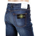 Stone Island Blue Vintage Wash with Fading Skinny Fit Zip Fly Denim Jeans for Men SI7524
