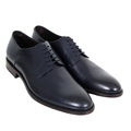 Boss Black Dark Navy Colour Stockhol Derby Classic Calf Leather Shoes with Smooth Finish BOSS6587