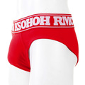 RMC Martin Ksohoh RQU12006 Mens Red Stretch Cotton Briefs with Red Waistband RMBC004